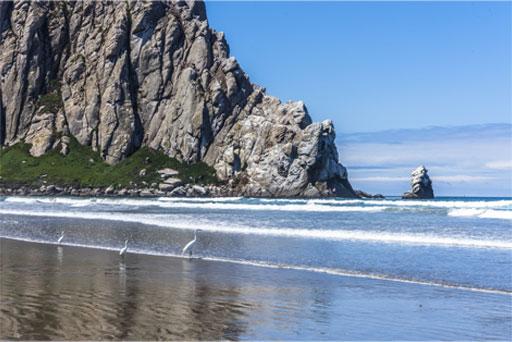 Morro Strand State Beach on a Beautiful Sunny California Day